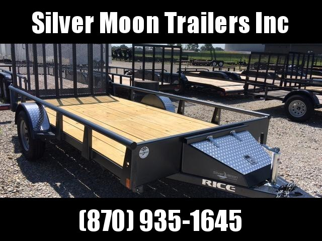 2018 Rice Single Axle Pipe Trailer