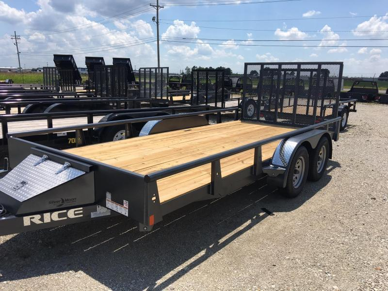 2017 Rice Tandem Axle Pipe Utility Trailer