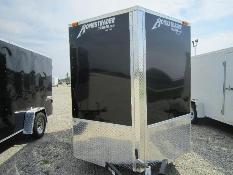 Homesteader 6x10 SA Enclosed Trailer w ramp door - Side wall vents - D Rings