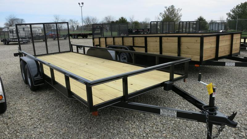 P&T Trailers 77x18 Tandem Axle Utility w/ Rear Gate