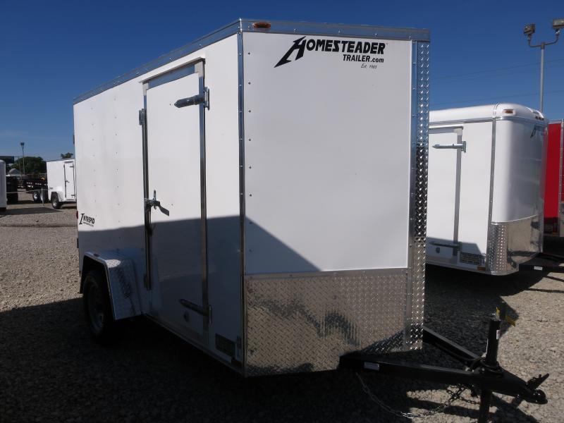 Homesteader 6x10 SA Enclosed Trailer Double Rear Doors