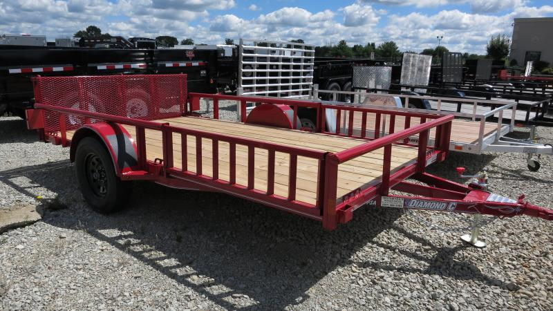 Diamond C Trailers 6x12 Utility Trailer w/ Gate ATV Side Ramps