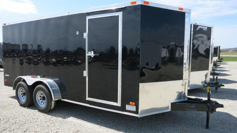 Freedom Trailers 7x16 Enclosed Trailer w/ Ramp Door - RV Door