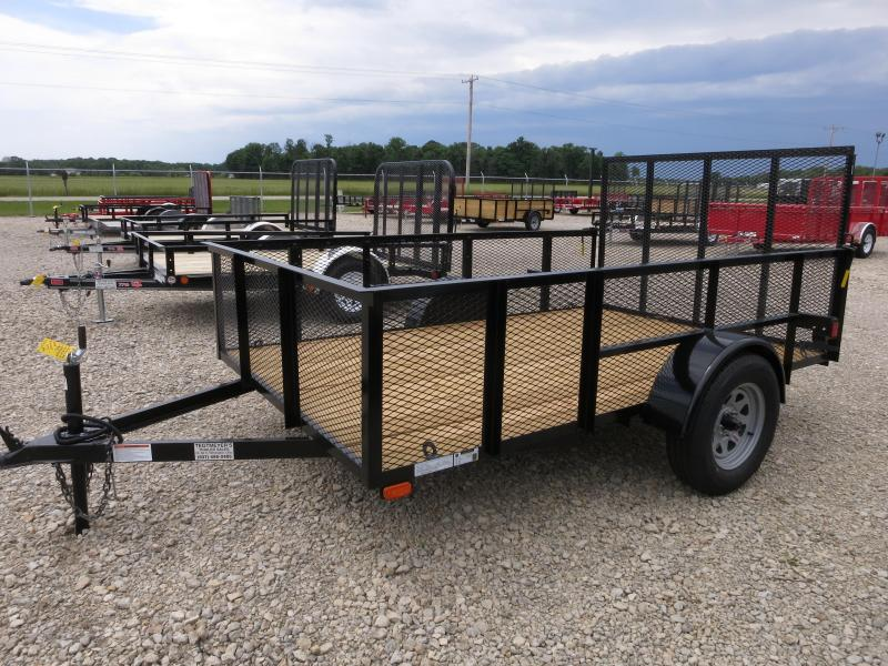 American Manufacturing 6x10 Utility Trailer w/ mesh sides gate