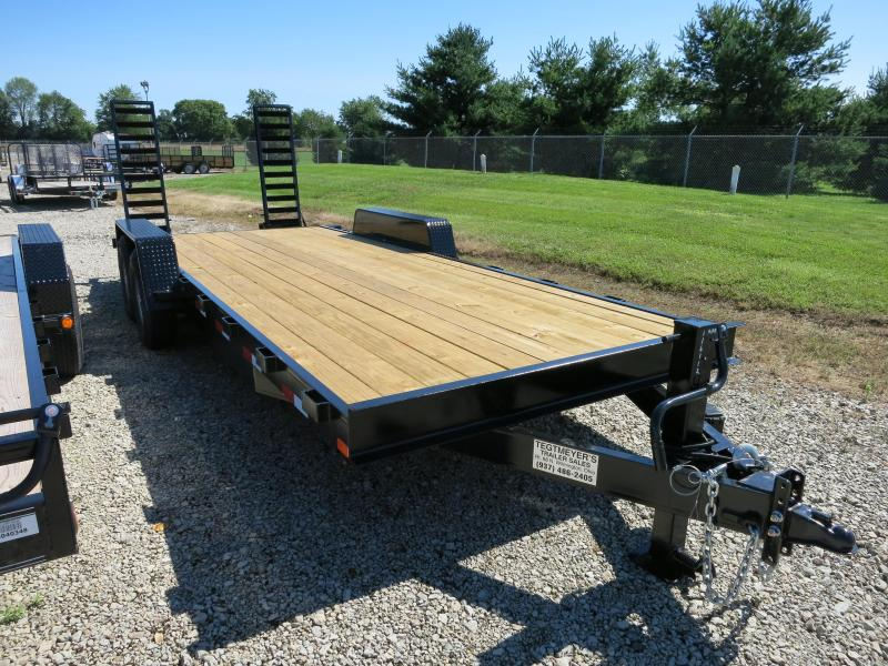 American Manufacturing 20' Flatbed Trailer Wood Floor w/ ramps - Brake