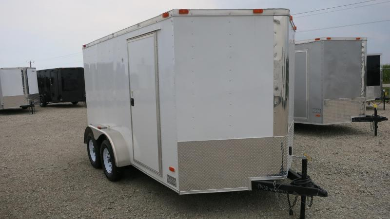 Freedom Trailers 7x12 Enclosed Trailer w/ Ramp Door - RV Door
