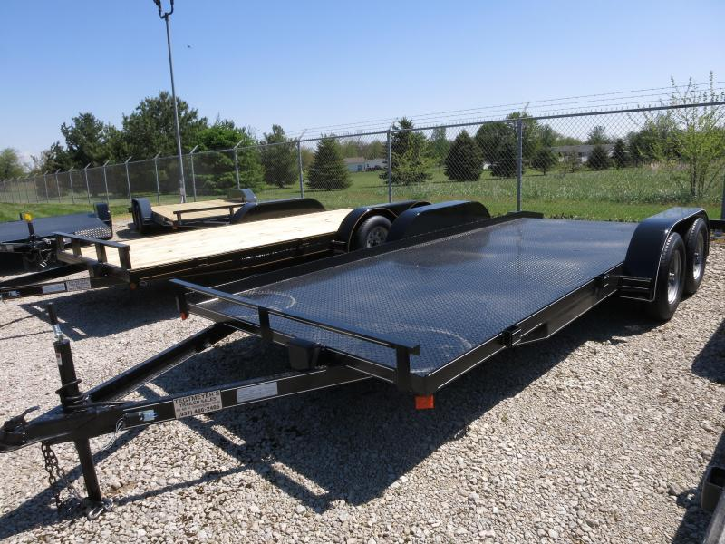 P&T Trailers 18' Steel Floor Car Hauler w/ ramps