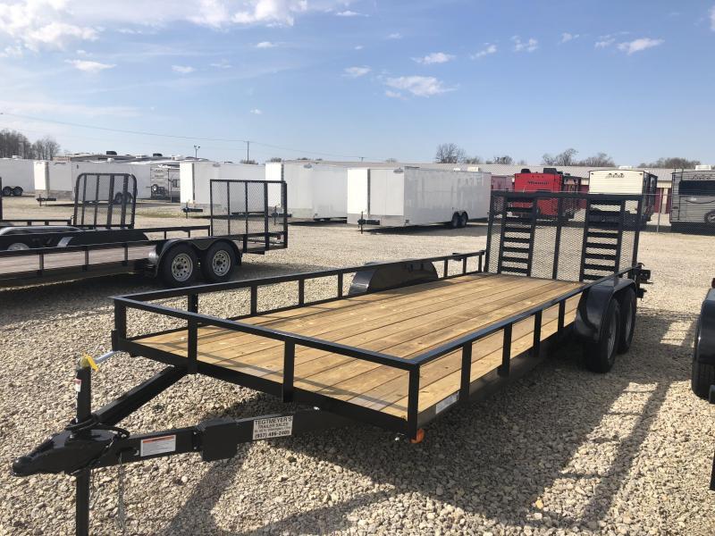 American Manufacturing 7x20 Utility Trailer w/ Heavy Duty Gate
