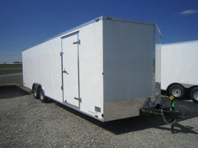 Continental Cargo 8.5X24 Enclosed Race Car Trailer W/ Ramp Door - 10000 GVW - Drings