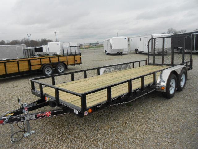 PJ Trailers 6x18 Utility Trailer w/ Fold Up Gate