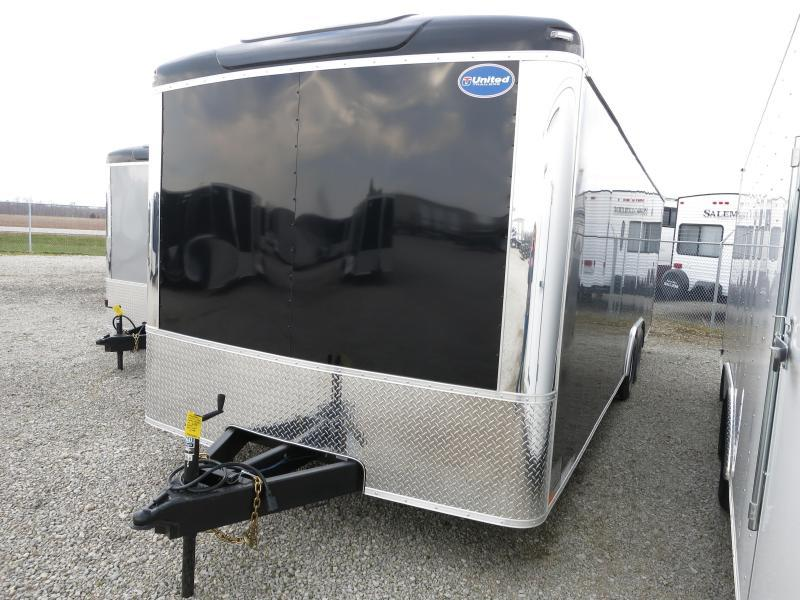 United 8.5 x 20 ULT Enclosed Trailer w/ Ramp Door - Roof Vent - Drings - 10000 GVW