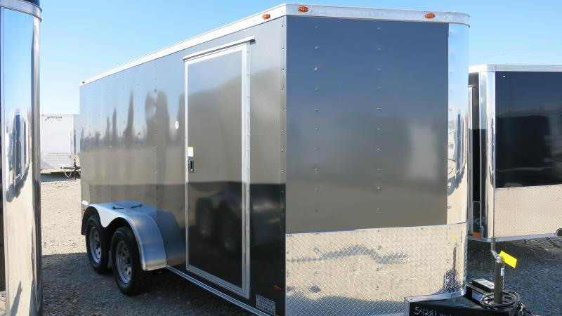 Freedom Trailers 7x14 Enclosed Trailer w/ Ramp Door - RV Door