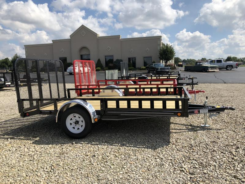PJ Trailers 7x12 Utility Trailers w/ Gate -ATV Side Ramps