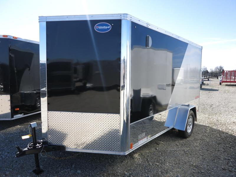 United Trailers 7x12 Enclosed Trailer XLMTV - Motorcycle Trailer -  LOADED with Options