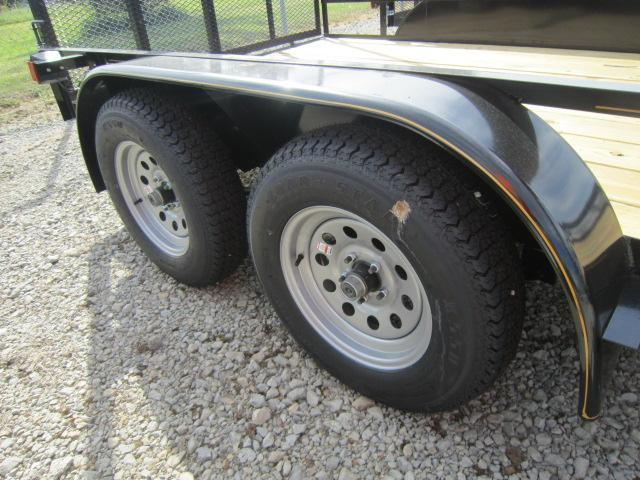 6x12 Utility Trailers w/ Rear Gate - Brake - Treated Floor