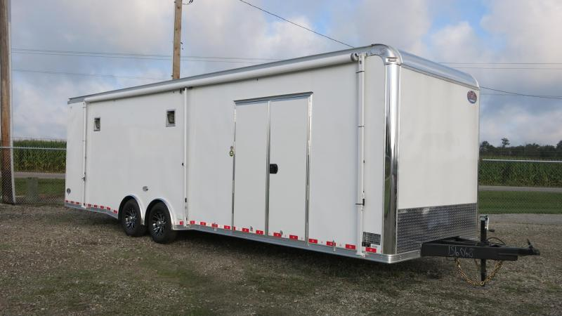 United 8.5 x 30 Enclosed Race Car Trailer w/ Ramp Door - LOADED RACE CAR TRAILER!