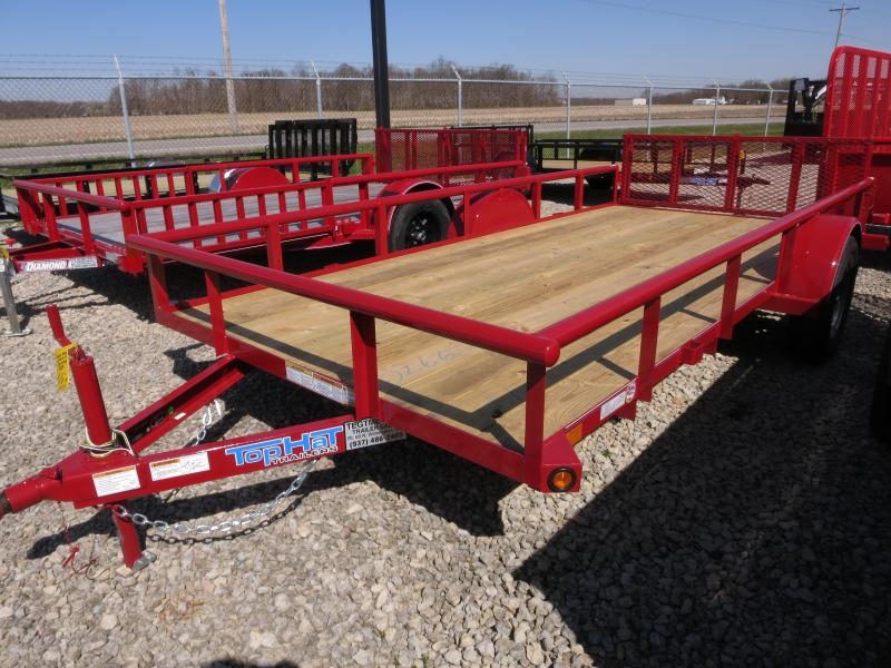 Top Hat Trailers 6x14 Utility Trailers w/ Gate - 2900#