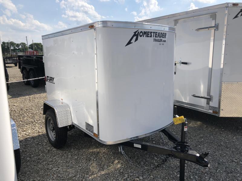 Homesteader 4x6 Single Axle Enclosed w/ Single Rear Door