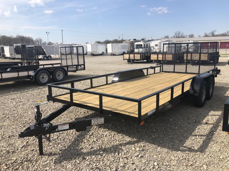 American Manufacturing 7x18 Utility Trailer w/ gate