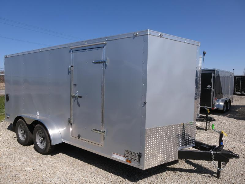 Continental Cargo Trailers 7X16 Enclosed Trailers W/ Ramp Doors - Dome Lights - LED Tail Lights - Stone Gard
