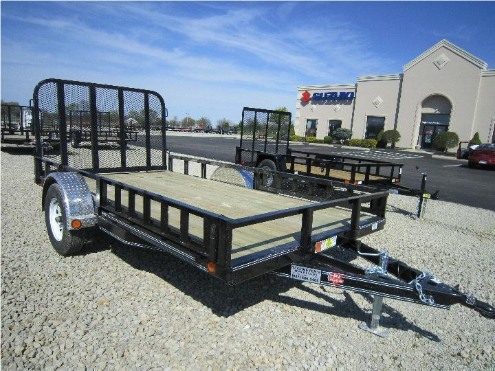 PJ Trailers 7x14 Utility w/ Gate - Side ATV Ramps - 2990#