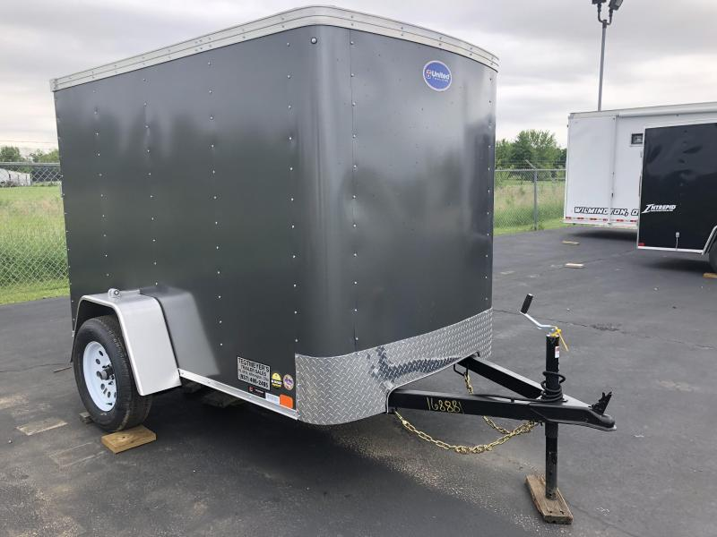 United Trailers 5X8 Single Axle Enclosed Trailer