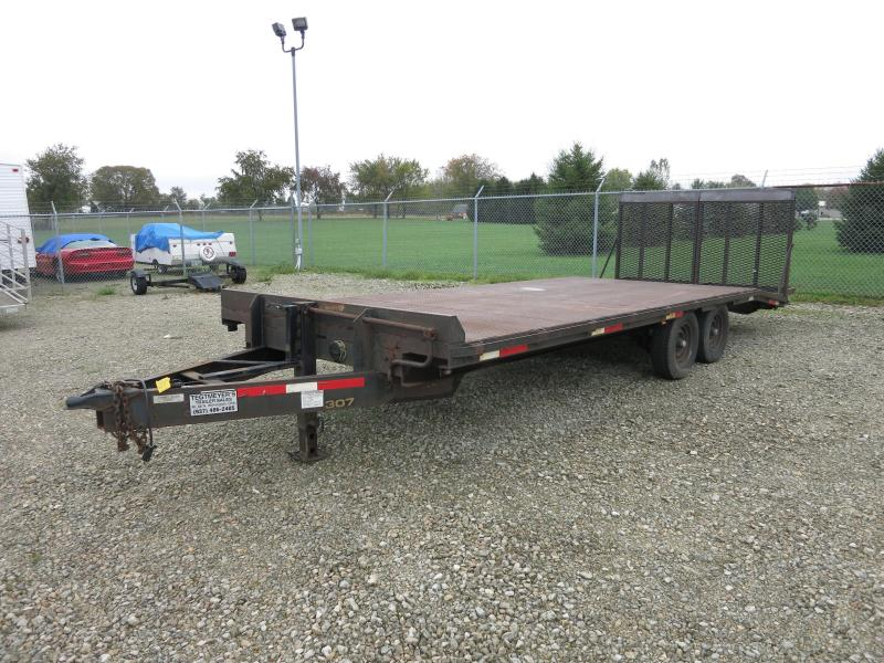 Used 20' Deckover Flatbed Trailer