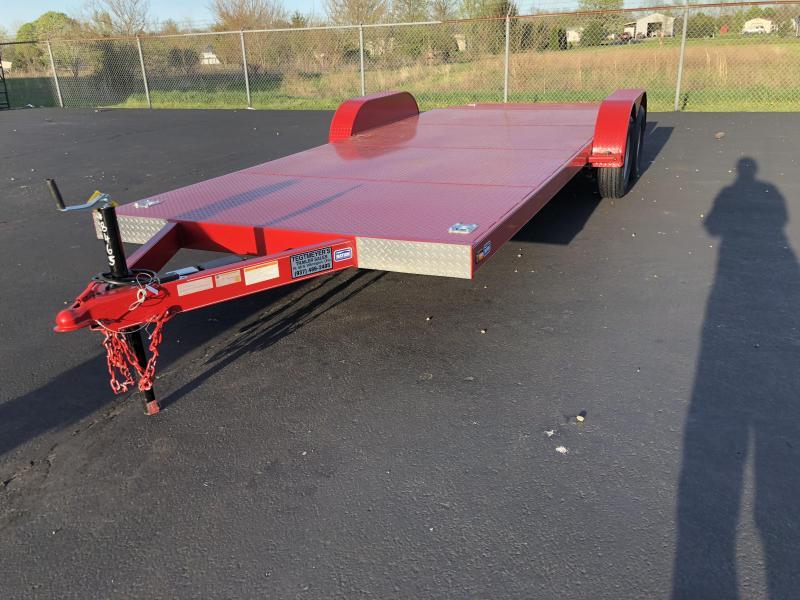 Nation Tank & Trailers - 20' Steel Floor Car Hauler w/ ramps - removable fenders