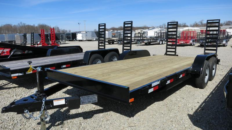 American Maunfacturing 20' Flatbed Trailer Wood Floor w/ ramps - Brake
