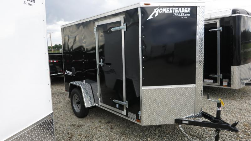 Homesteader Trailers 5x10 Enclosed Trailer w/ Ramp Door - Side Wall Vents - D Rings