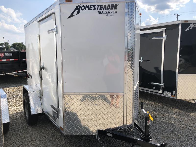 Homesteader 5x8 SA Enclosed Trailer w single rear door