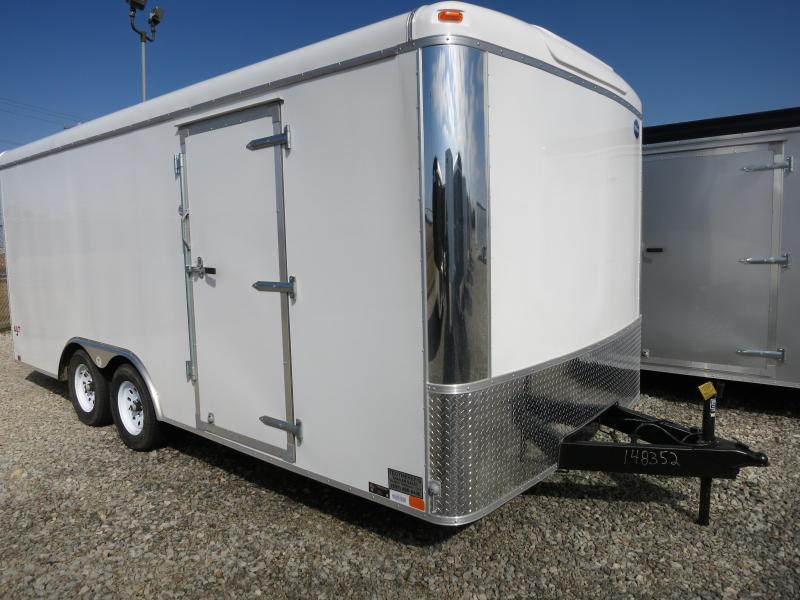 United 8.5 x 16 ULT Tandem Axle Enclosed Trailer w/ Ramp Door - Screwless Sides - Polished Corners - LED Lights