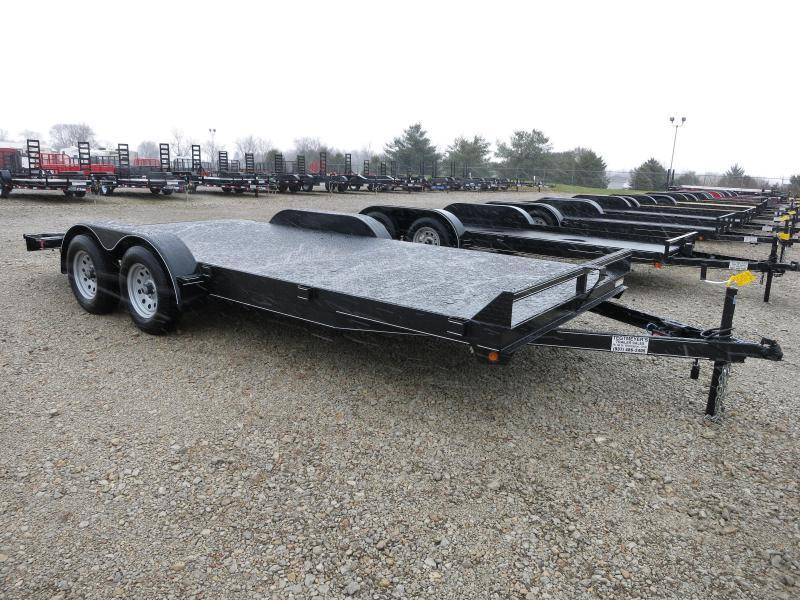 Lone Wolf Trailers 20' Steel Floor Car Hauler w/ ramps - dove