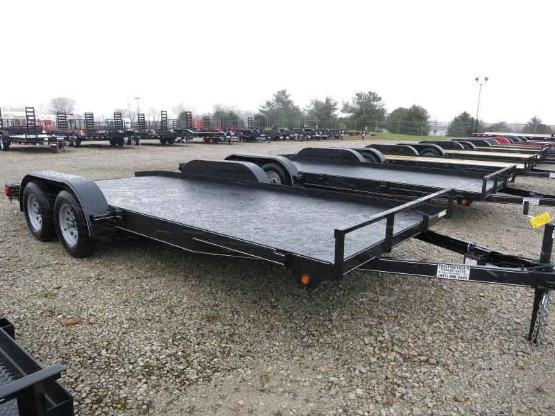 Lone Wolf Trailers 18' Steel Floor Car Hauler w/ ramps