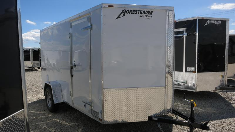 Homesteader 7x12 SA Enclosed Trailer w/ Ramp Door - D Rings - Vents Sidewall