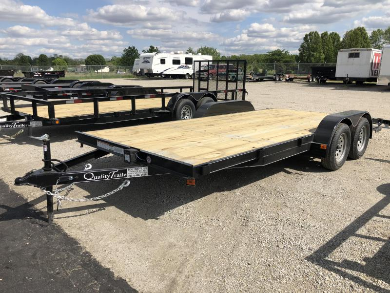 Quality Trailers 18' Wood Floor Car Trailers w/ ramps - 7000 GVW - BRAKE