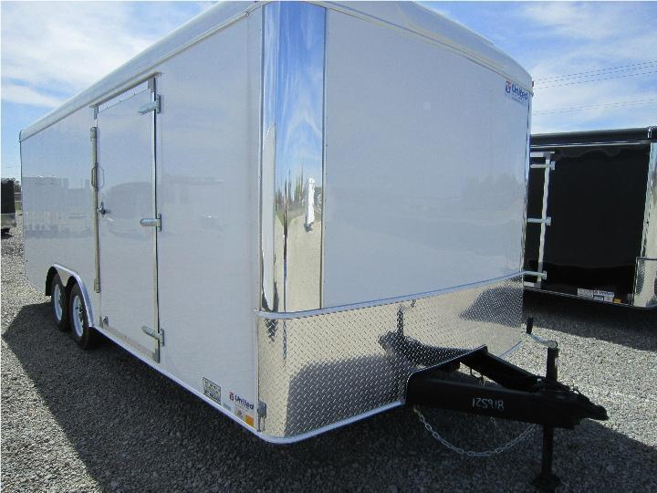 United 8.5 x 28 Enclosed Trailer w/ Ramp Door - Roof Vent - Drings - 10000 GVW