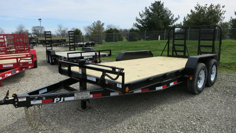 PJ Trailers 16' Equipment Trailer w/ Heavy Duty Gate- Dove