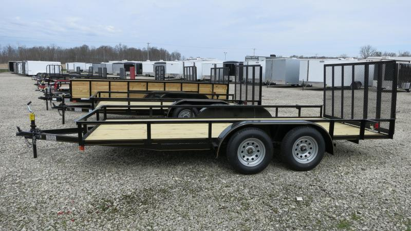 P&T Trailers 7x16 Utility Trailer w/ Rear Gate - Brake