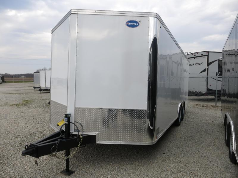 United Trailers 8.5 x 23 XLTV Enclosed Trailer w/ Ramp Door - Screwless Sides - Polished Corners - LED Lights