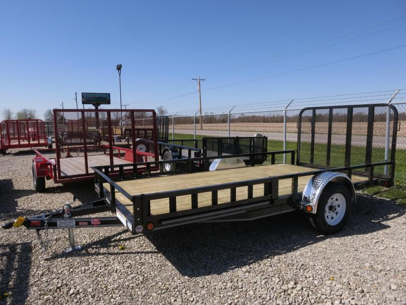 PJ Trailers 7x14 Utility Trailers w/ Gate - Side ATV ramps