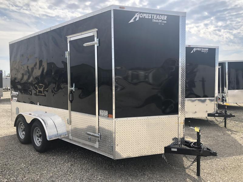 Homesteader Trailers 7x14 Enclosed Trailer w/ Ramp Door - Extra Height - Vents - Drings