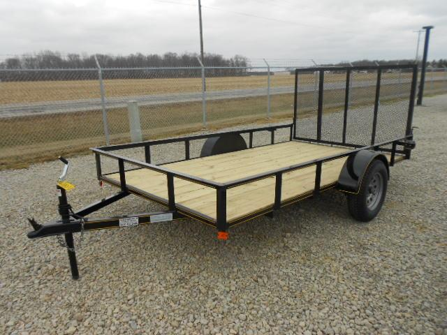 "6x10 Utility Trailers Single Axle w/ Rear Gate- 2"" Coupler"