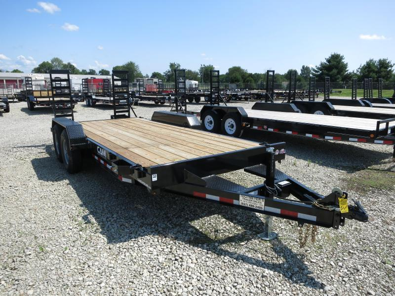 Cam Superline Trailers  7x18 TA Wood Floor Flatbed Trailer