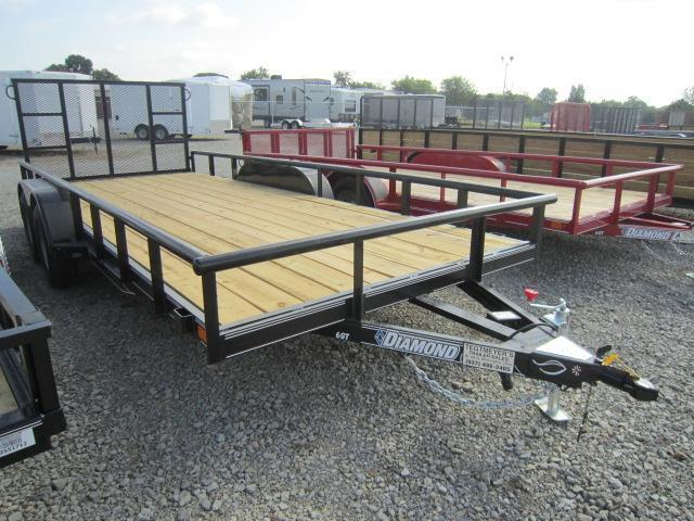 Diamond C Trailers - 7x18 Tandem Axle Utility Trailer w/Rear Gate