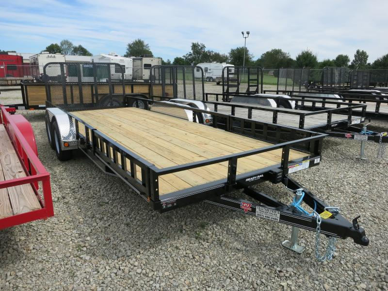 PJ Trailers 7' x 20' Utility Trailer w/ Gate - Side Mount ATV Ramps