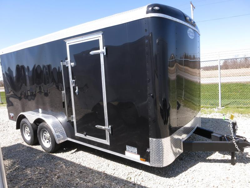 Continental Cargo Trailers 7X16 Enclosed Trailer W/ Ramp Door Side Door Roof Vent