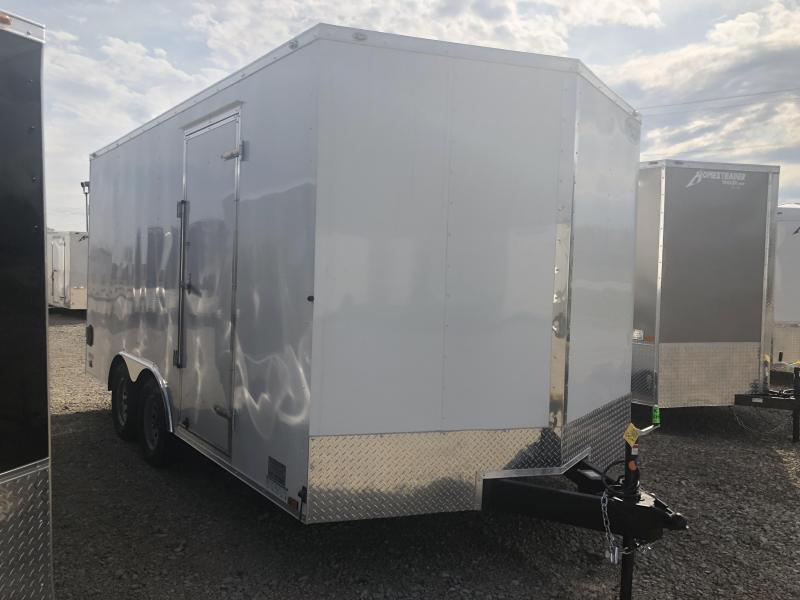 Continental Cargo 8.5X16 Enclosed Trailer W/ Ramp Door - Roof Vent - D rings