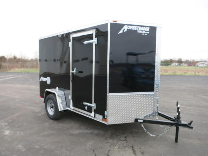 Homesteader Trailers 6x10 SA Enclosed Trailer w ramp door - Side wall vents - D Rings