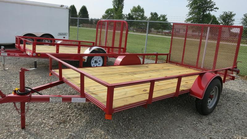 "P&T Trailers 6x12 Utility Trailer w/ Rear Gate- 2"" Coupler"